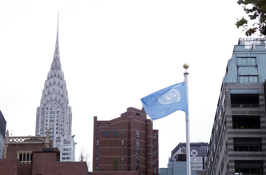 Vista do prédio Chrysler, na cidade de Nova York, da sede da ONU. Foto: ONU/Paulo Filgueiras