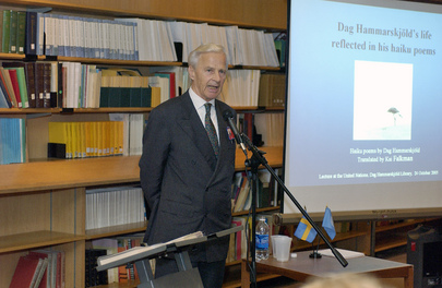 Lecture on  Dag Hammarskjöld's Life As Reflected in His Haiku Poems