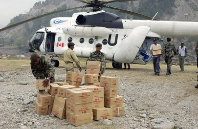 United Nations Flight Delivers Food Aid to Earthquake Area of Pakistan