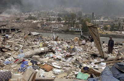 Searching for Missing After Pakistan Earthquake