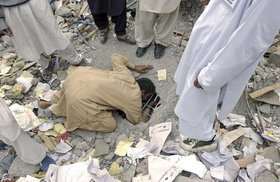 Searching for Missing School Children After Pakistan Earthquake