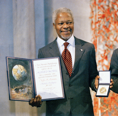 United Nations Secretary-General Receives Nobel Peace Prize