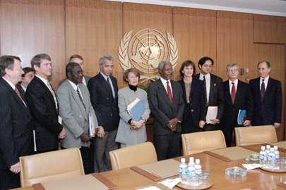Newly-appointed Secretary-General Meets with Transition Team on His First Day of Work