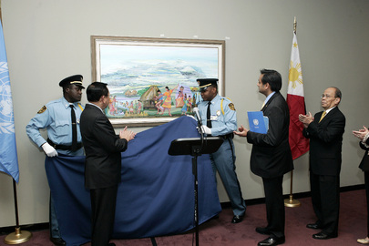 Unveiling of Painting Presented to United Nations