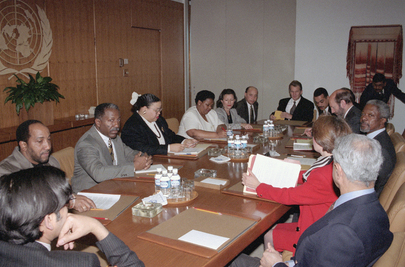 UN Secretary-General Meets with Members of Staff Committee