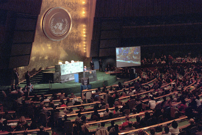 UN Secretary-General Addresses Staff Members 