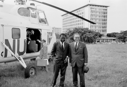 Dr. Ralph Bunche Visits the Republic of the Congo