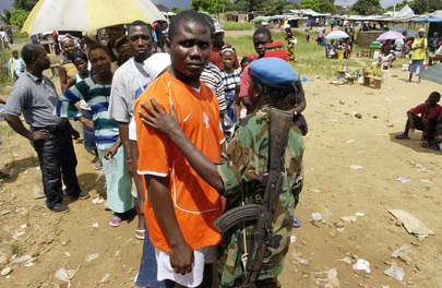 UN Mission Helps Maintain Order During Polling