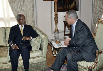 Secretary-General Meets With Egyptian Foreign Minister