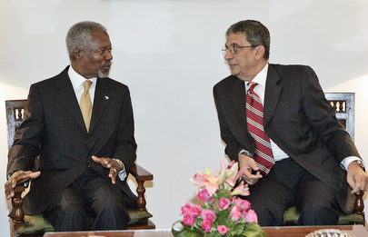 Secretary-General Meeting With Secretary General of League of Arab States