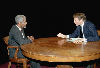 UN Secretary-General Being Interviewed by Charlie Rose