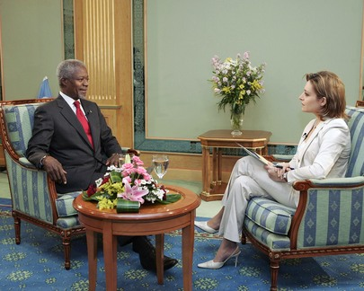 Kofi Annan Interviewed by Al Arabia News Channel