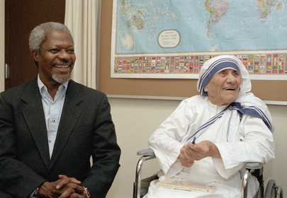 Secretary-General of the United Nations Meets with Mother Teresa