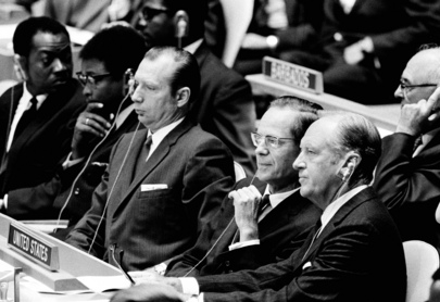 President Nixon Visits United Nations