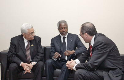 Secretary-General Meets With President of Palestinian National Authority and Israeli Foreign Minister