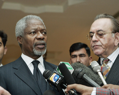 Secretary-General Speaks to Press Upon Arrival in Pakistan