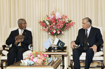 UN Secretary-General Meets With Pakistani Prime Minister in Islamabad
