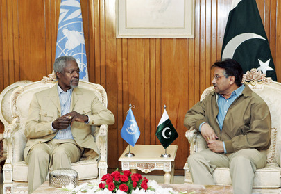Secretary-General Meets With President of Pakistan