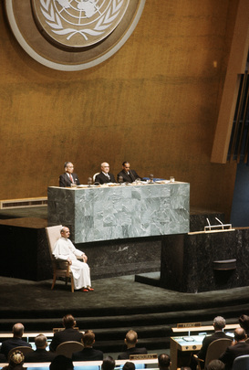 Visit of His Holiness Pope Paul VI to the United Nations