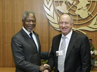 Secretary-General meets with Foreign Minister of Ireland