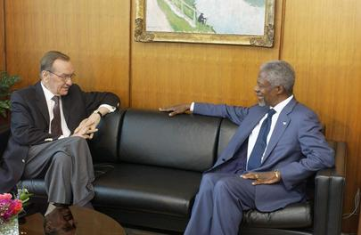 Secretary-General Meets with Former Head of Mission in Kosovo