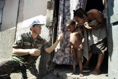 Chilean Peacekeeper in Cap Haitien