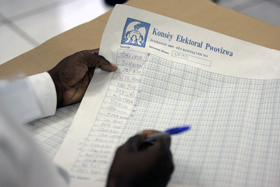 Electoral Polling Supervisor Trainee Learning to Tally Ballots