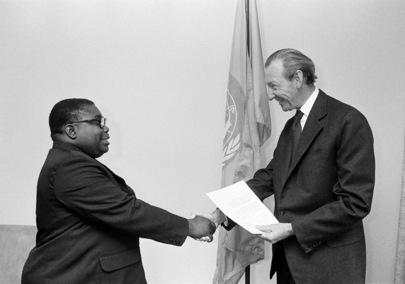 New Permanent Representative of Gabon Presents Credentials