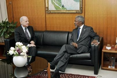Secretary-General Meets with President of International Criminal Tribunal for the former Yugoslavia