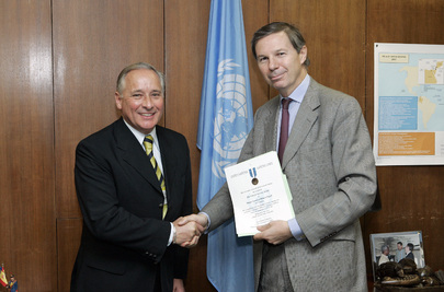 Commander of United Nations Peacekeeping Force in Cyprus Honoured