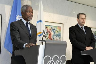 Press Conference by Secretary-General and Olympic Committee President