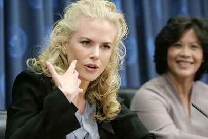 Press Conference by Nicole Kidman and Executive Director of UNIFEM