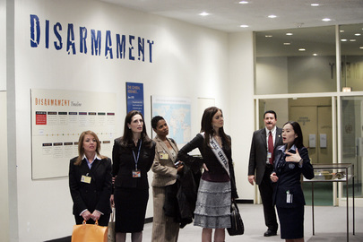 Miss Universe 2006 Tours United Nations Headquarters