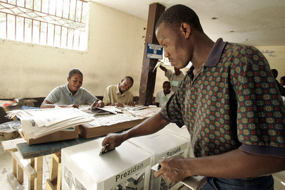 Voting in Haiti Elections