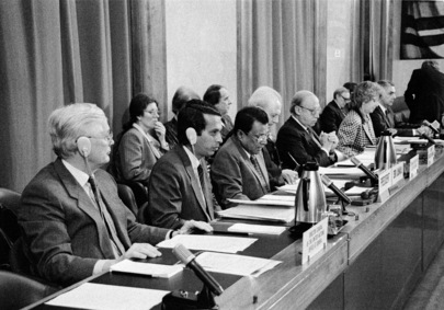 Top Table at Opening Session of 1991 Disarmament Conference