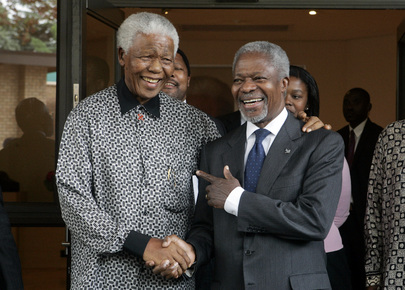 Secretary-General Meets with Former South African President