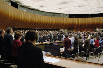Human Rights Meeting Observes Minute of Silence at Start of Session