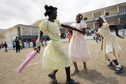 Girls Participate in Event Organized by UN Mission in Haiti