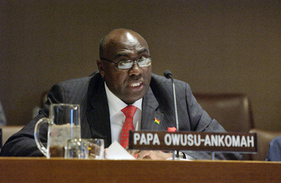 Ghanaian Minister Addresses Meeting on International Migration