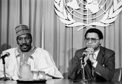 Press Conference by Anti-Apartheid Committee
