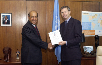 Outgoing Force Commander of UN Mission Honoured