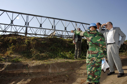 Special Representative for Sudan Visits Bridge Built by Peacekeepers