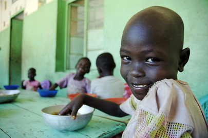 Children Have Lunch at Sudanese Orphanage