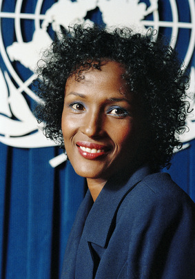 Portrait of Waris Dirie, Goodwill Ambassador for United Nations Population Fund