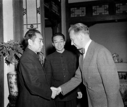 U.N. Secretary-General Meets Prime Minister Chou En-Lai