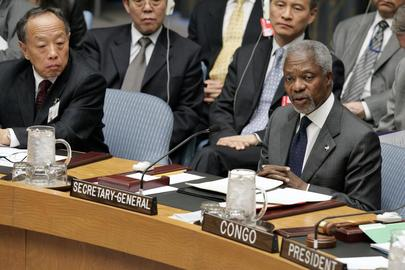 Annan Addresses Security Council on Darfur Crisis