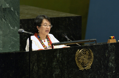 Chairperson of United Nations Permanent Forum on Indigenous Issues Addresses Opening Ceremony