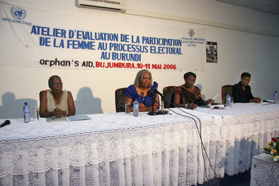 Workshop Examines Women Participation in Burundi Electoral Process