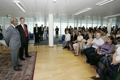 Secretary-General Addresses Global Fund Staff in Geneva