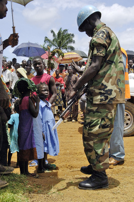 Ethiopian UN Peacekeeper in Grand Kru County, Liberia